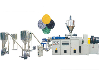 Conical Twin Screw Extruder PVC Pelletizing Line With PVC Powder / Calcium Material
